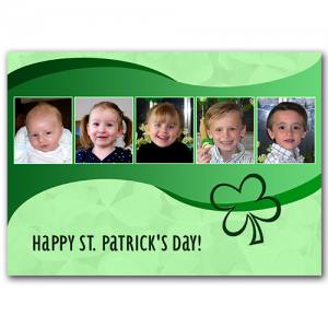 St. Patrick 5 Frame PSD Template #freedownload