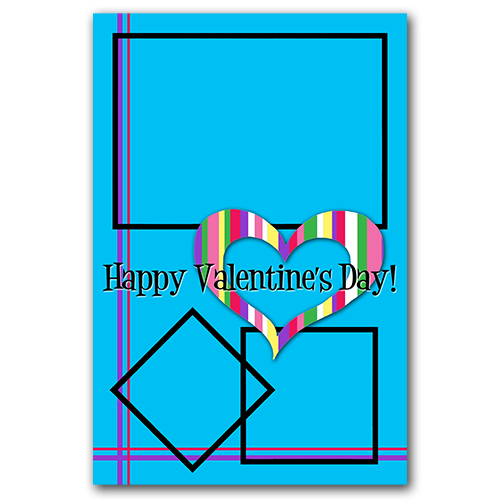 Blue Heart Valentine PSD Template #freedownload