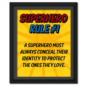 Superhero Rule 1 Poster #superhero