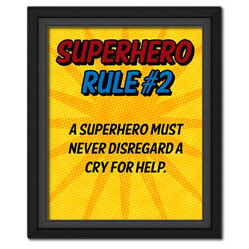 Superhero Rule 2 Poster #superhero