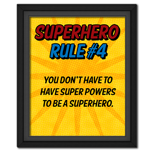Superhero Rule 4 Poster #superhero