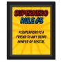 Superhero Rule 5 Poster #superhero
