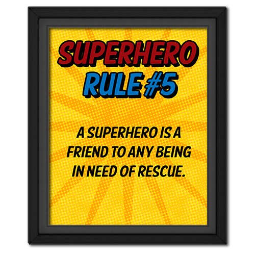 Superhero Rule 5 Poster #superhero