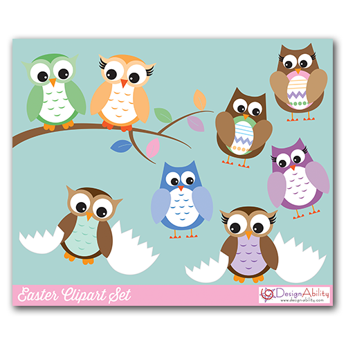 free easter owl clip art - photo #31