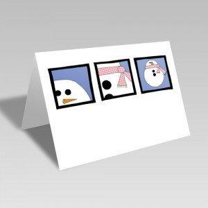 January Snowman Card