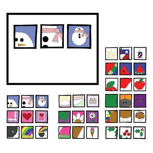 Three Square 12 Month Card Set