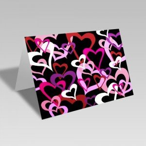 Heart Links Card: Black