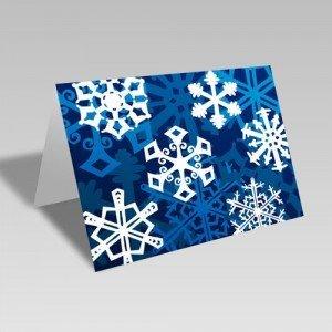 Snowflake Fantasy Card: Blue