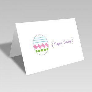 Modern Easter Egg Card