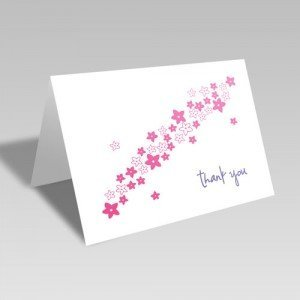 Flower Spray Thanks Card