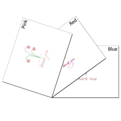Flower Trio Thanks Card Set
