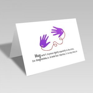 Hug Definition Card - A Paper Hug