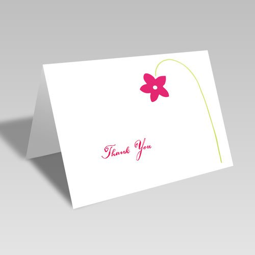 One Flower Thanks Card