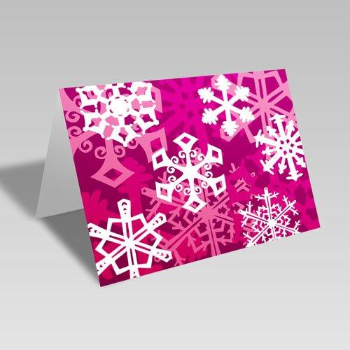 Snowflake Fantasy Card: Pink