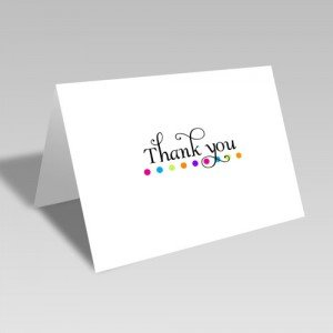 Rainbow Dot Thank You Card