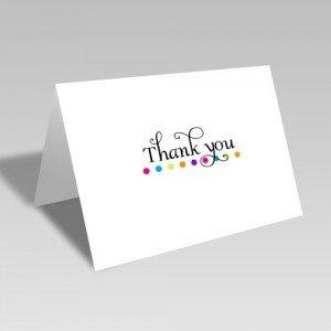 Rainbow Dot Thank You Card