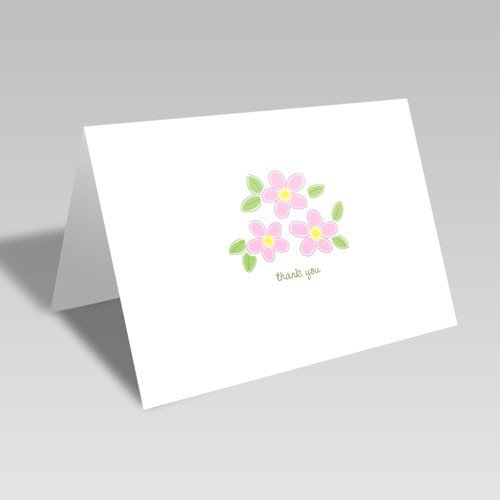 Spring Flower Thank You Card