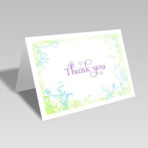 Springtime Thank You Card