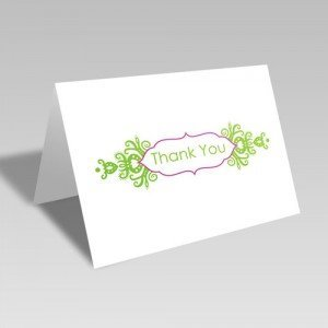 Thank You Brocade Frame Card