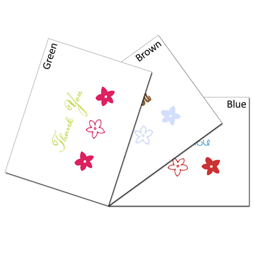 Three Flower Thanks Card Set
