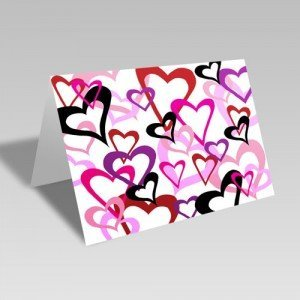 Heart Links Card: White