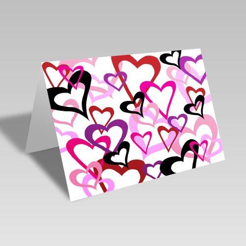 Heart Links Card: White