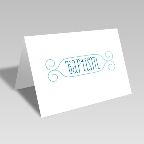 Baptism Card - Blue
