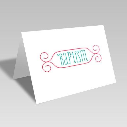 Baptism Card - Red