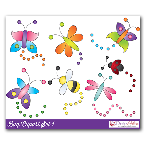 Bug Clip Art Set 1