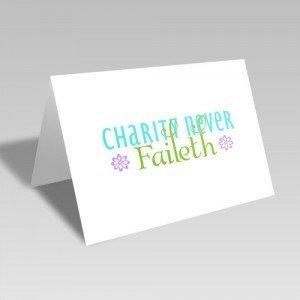 Charity Purple Flowers Card #lds #reliefsociety