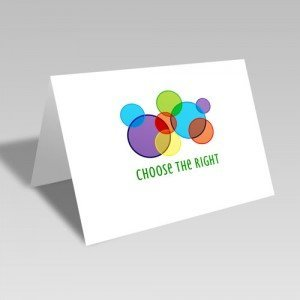 CTR Circles Card - Bright #choosetheright
