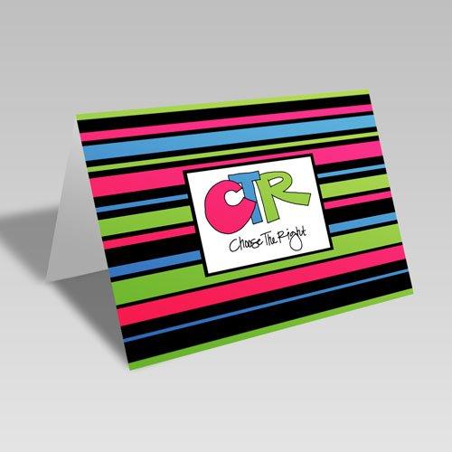 CTR Stripes Card - Green #choosetheright