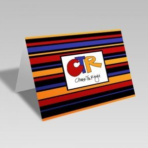 CTR Stripes Card - Orange #choosetheright