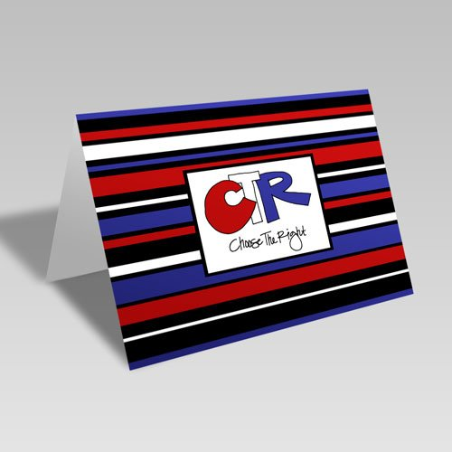 CTR Stripes Card - Red #choosetheright
