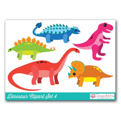Dinosaur Clip Art Set 4
