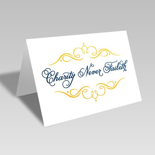 Charity Fancy Card - Blue #lds #reliefsociety