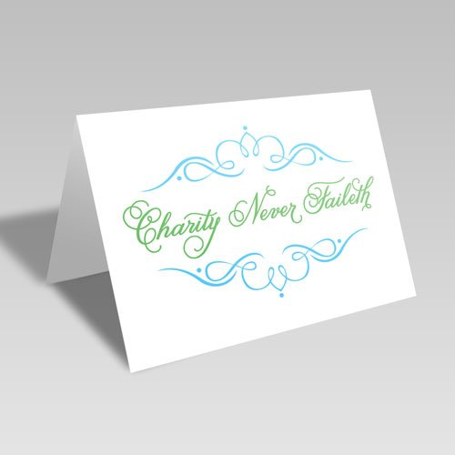Charity Fancy Card - Green #lds #reliefsociety