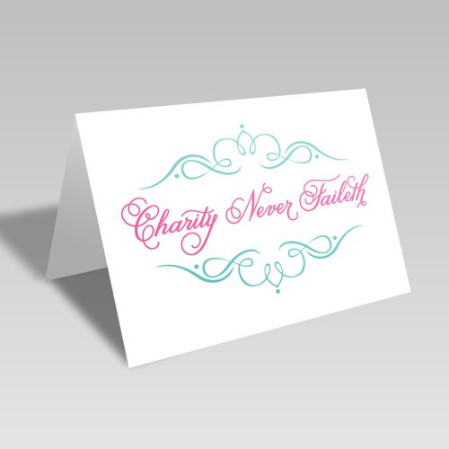 Charity Fancy Card - Pink #lds #reliefsociety