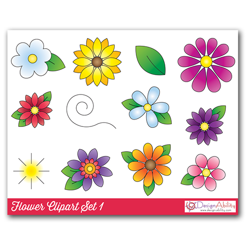 Flower Clip Art Set 1
