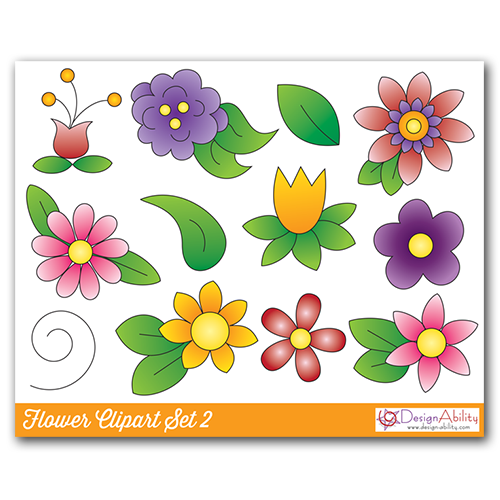 Flower Clip Art Set 2