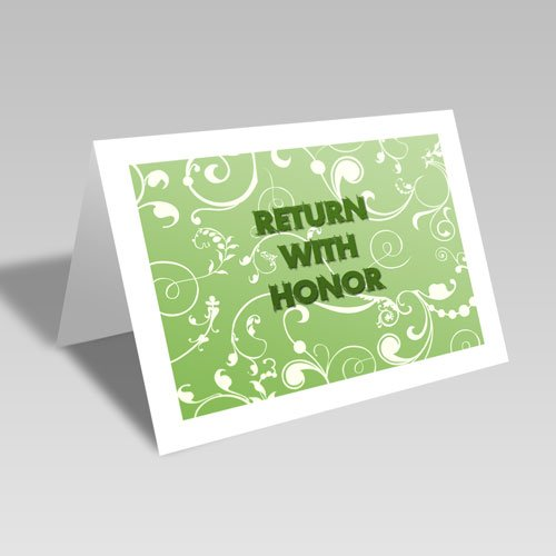 Return With Honor Card - Green #lds #missionary