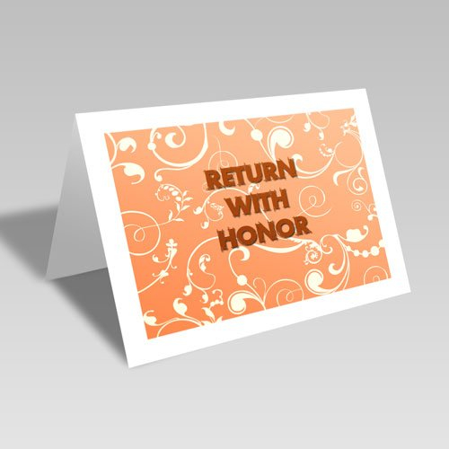Return With Honor Card - Orange #lds #missionary