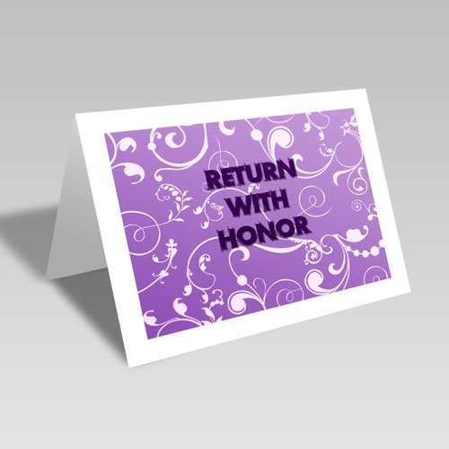 Return With Honor Card - Purple #lds #missionary