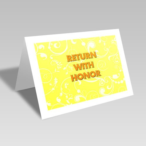 Return With Honor Card - Yellow #lds #missionary