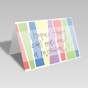 Call Me on a Mission Card - Rainbow #lds #missionary