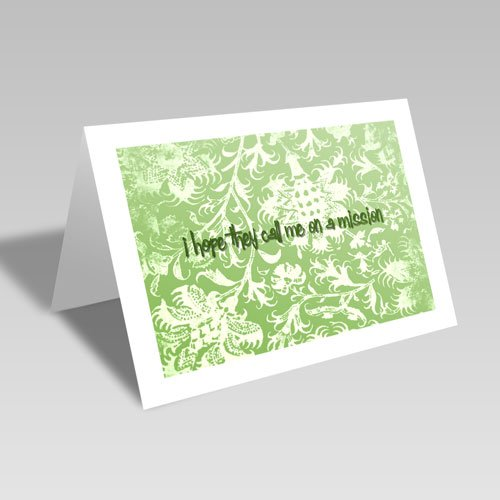 Mission Hopes Card - Green #lds #missionary