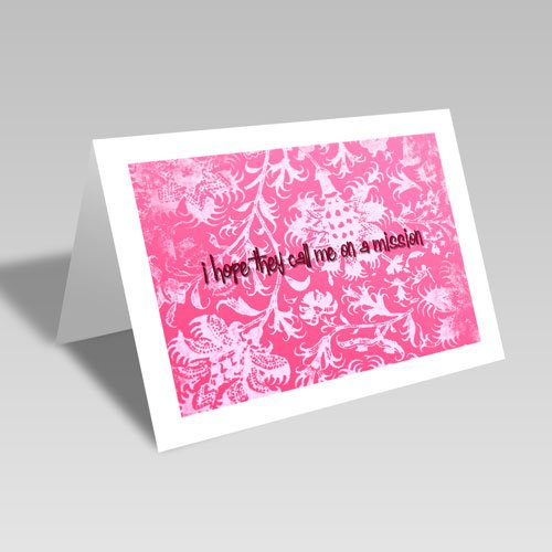 Mission Hopes Card - Pink #lds #missionary