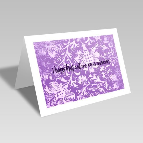 Mission Hopes Card - Purple #lds #missionary