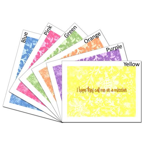 Mission Hopes Card - Set #lds #missionary