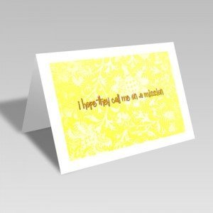 Mission Hopes Card - Yellow #lds #missionary